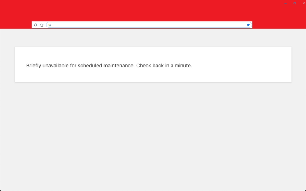 Briefly unavailable for for scheduled maintenance